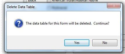 Delete Data Tables | Form Designer | User Guide | Epi Info