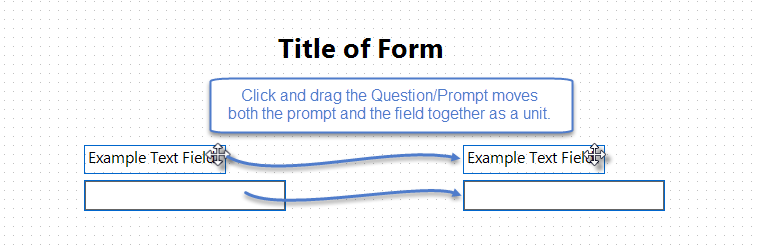 Image with question and field dragged as a unit