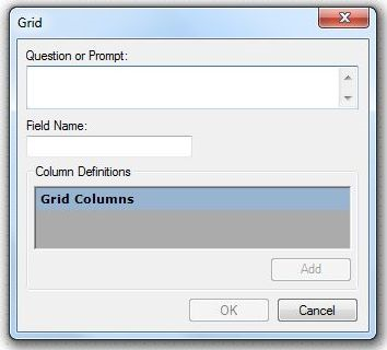 Image showing the Grid Field Definition dialog box.