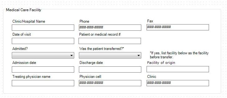 Demonstration template: Medical Facility