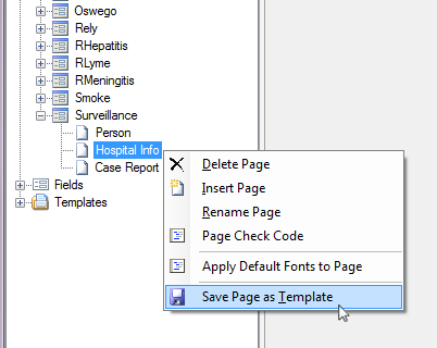 Use templates form designer user guide epi info cdc image of the save page as template menu item maxwellsz
