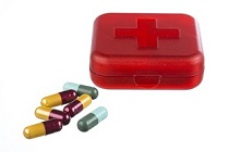 Pills and emergency box