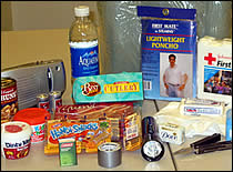 Photo of emergency supplies.