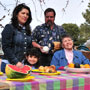 Photo: Families enjoying picnic