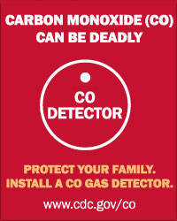 Graphic: Carbon Monoxide (CO) can be deadly. Protect you family. Install a CO gas detector.