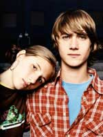 Photo: A teen boy and girl