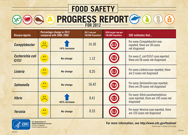 Graphic: Food Safety Progress Report for 2012