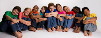 Photo: Large group of children