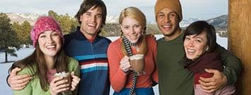 Photo: Group of people enjoying holidays