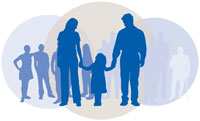 Graphic: Family silhouettes