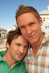 Photo: Young gay male couple