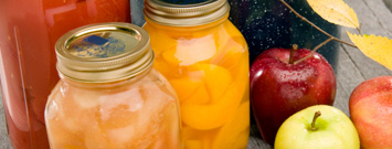 Photo: Canning jars with fresh fruits