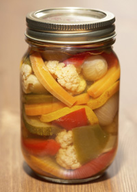 Photo: Jar of vegetables