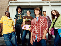 Photo: Group of teenagers
