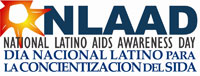 Logo: NLAAD - National Latino AIDS Awareness Day