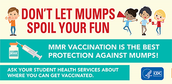 Don't Let Mumps Spoil Your Fun: MMR Vaccination is the best protection against mumps!