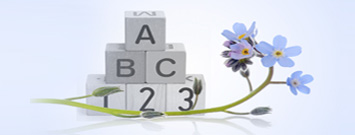 Photo: Baby blocks and flowers
