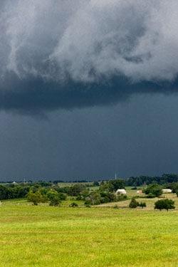 Tornadic weather scene