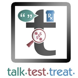Graphic: Talk. Test. Treat.