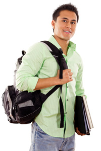 Photo: Male student with backpack