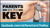 Graphic: Parents are the key. Facebook.com/cdcParentesAreTheKey