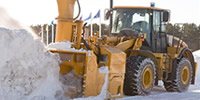Photo: Heavy equipment moving snow.