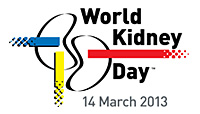 Logo: World Kidney Day - March 14, 2013