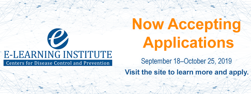 E-learning Institute. Now Accepting Applications. September 18 - October 25, 2019. Visit the site to learn more and apply.