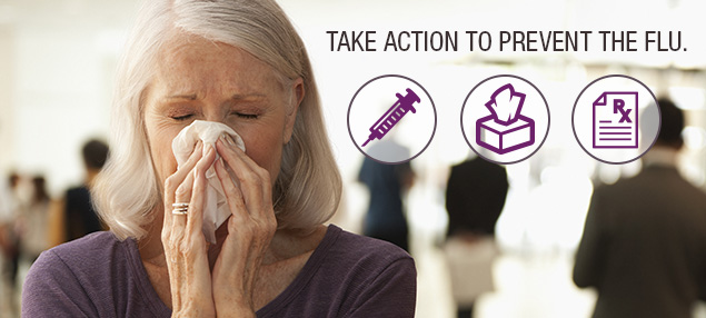 Prevent getting the flu by getting vaccinated.