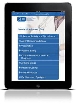 CDC Influenza iPad Screenshot