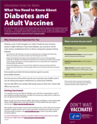 Diabetes and Adult Vaccines Factsheet