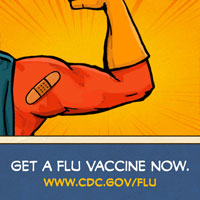 Get a flu vaccine now #fightflu