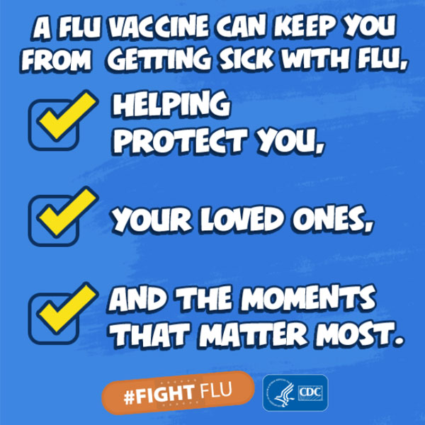 A flu vaccine can keep you from getting sick with flu, helping protect you, your loved ones, and the moments that matter most.