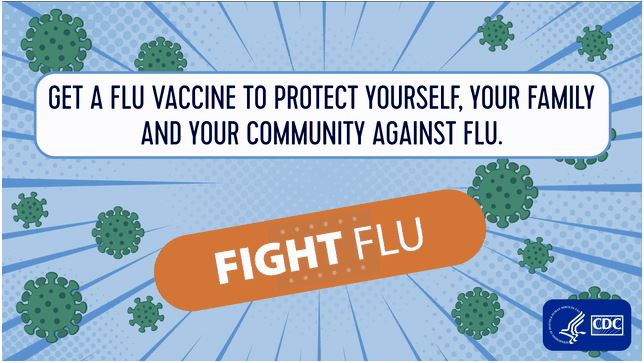 Get a flu vaccine to protect yourself, your family, and your community against flu