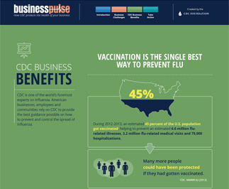 link to infographic - vaccination is the single best way to prevent flu