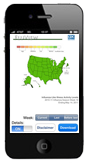 FluView Influenza-Like Illness Activity Mobile Application