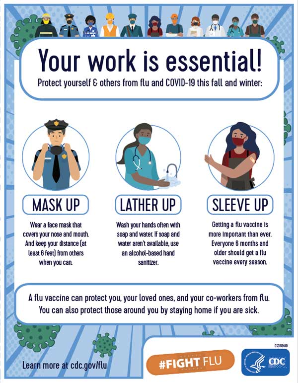 Your work is essential! Flyer
