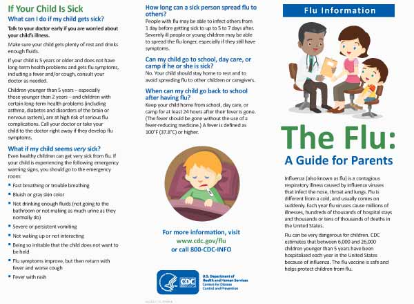 The Flu: A Guide for Parents Brochure