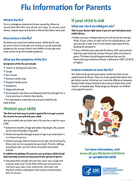 Información sobre la influenza para padres