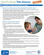 Information for Parents for the 2016-2017 flu season.
