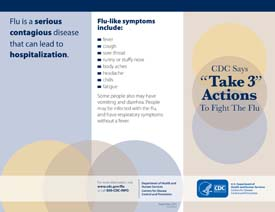 """Take 3"" Actions To Fight The Flu"