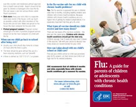 A Flu Guide for Parents of Children or Adolescents with Chronic Health Conditions