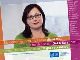 Flu Vaccine: Woman with Diabetes