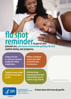 Expecting Parents Flu Shot Reminder