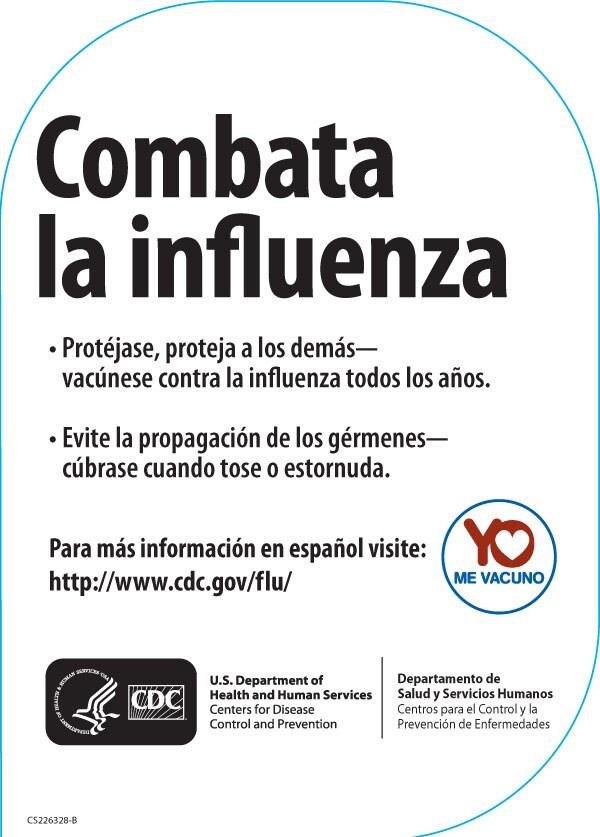 Combata la Influenza Calcomanía Estática