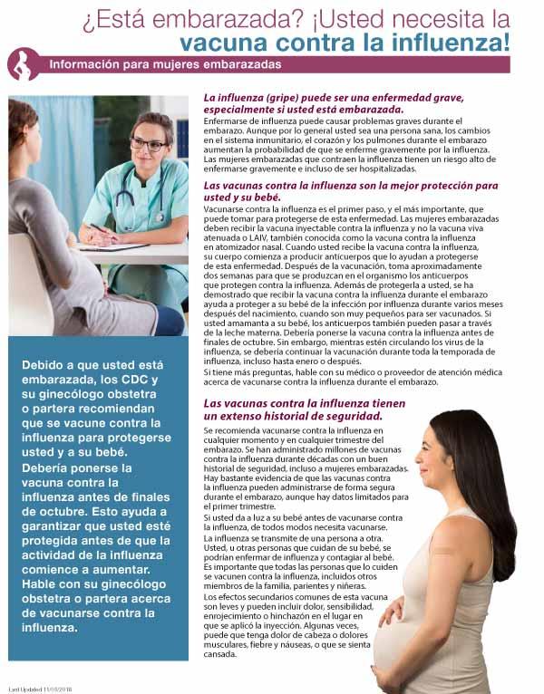 Las Embarazadas y la Vacuna Contra la Influenza