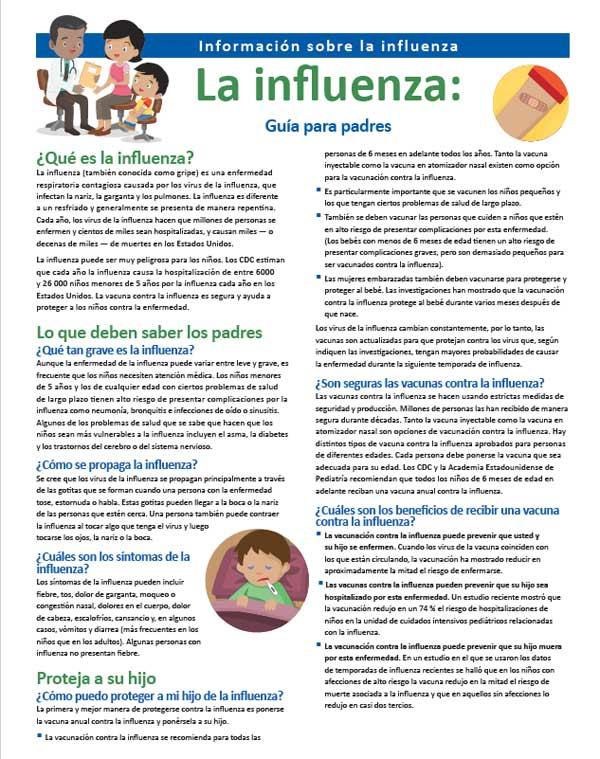 La Influenza: una Guía para los Padres