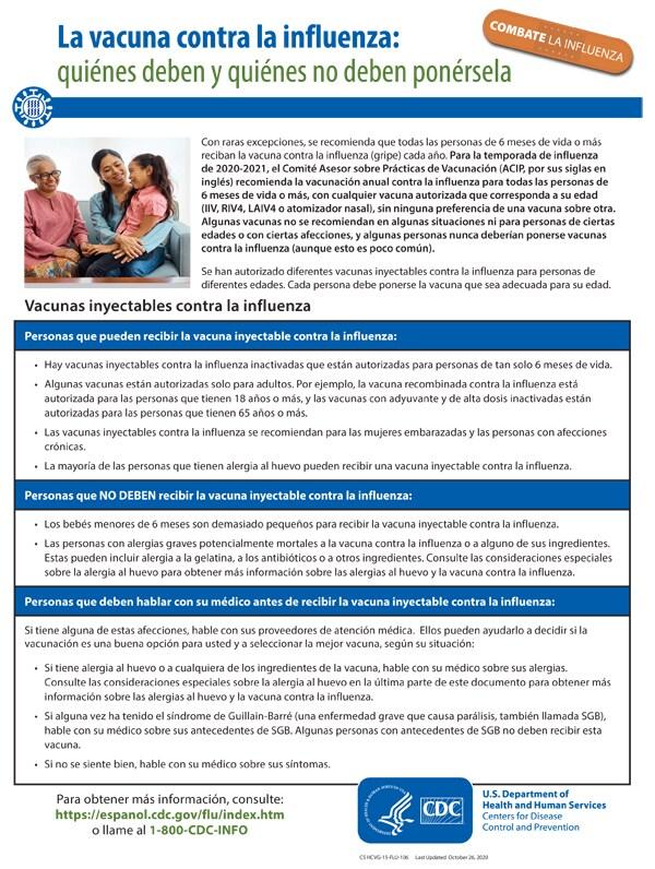 La vacuna contra la influenza: quiénes deben y quiénes no deben ponérsela