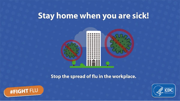 Stay at home when you are sick