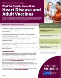 Enfermedades cardiacas y vacunas para adultos